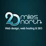 A great web designer: 20 Miles North Web Design, Seattle, WA logo