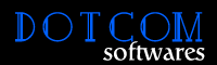 A great web designer: Dotcom Softwares, Kolkata, India logo