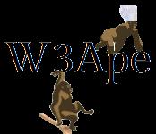 A great web designer: W3Ape, Zug, Switzerland logo