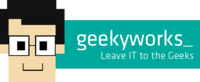 A great web designer: Geeky Works specializes in the design and development of Websites and Mobile Applications, Pune, India logo