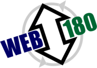 A great web designer: Web 180 LLC., Chicago, IL logo