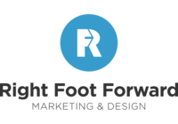 A great web designer: Right Foot Forward, Raleigh, NC logo