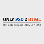 A great web designer: Only PSD 2 HTML, Ahmedabad, India logo