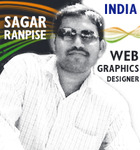A great web designer: Sagar Ranpise, Mumbai, India logo