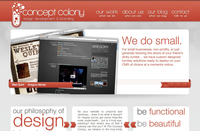 A great web designer: The Concept Colony, Dallas, TX logo