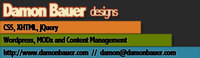 A great web designer: Damon Bauer, Cleveland, OH logo