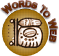 A great web designer: Words To Web, Washington DC, DC logo