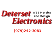 A great web designer: Deterset Electronics, Austin, TX