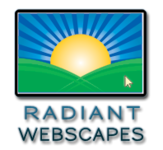 A great web designer: Radiant Webscapes, Princeton, NJ logo