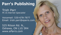 A great web designer: Parr's Publishing, Oshawa, Canada logo