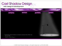 A great web designer: Cast Shadow Design, Inc., Los Angeles, CA logo