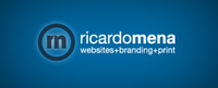 A great web designer: Ricardo Mena Designs, Miami, FL logo