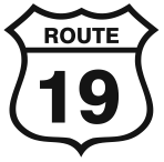 A great web designer: Route 19, Cape Breton, Canada logo