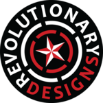 A great web designer: REVOLUTIONARY DESIGNS, Sioux Falls, SD logo