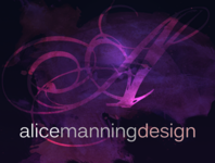 A great web designer: Alice Manning Design, Irvine, CA logo
