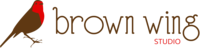 A great web designer: Brown Wing Studio, Iowa City, IA logo