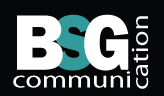 A great web designer: BSG Communication, Montreal, Canada logo