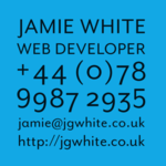 A great web designer: Jamie White, London, United Kingdom