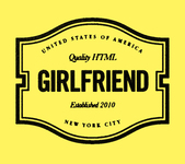 A great web designer: Girlfriend LLC, New York, NY logo