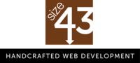 A great web designer: size43 LLC, Milwaukee, WI logo