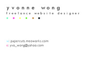A great web designer: Yvonne Wong, Hong Kong, China logo