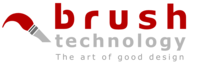 A great web designer: Brush Technology, Christchurch, New Zealand logo