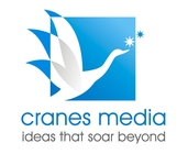 A great web designer: Cranes Media Co., Hong Kong, China logo