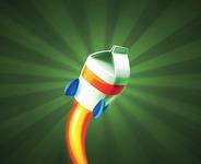 A great web designer: Turbomilk, Samara, Russia logo