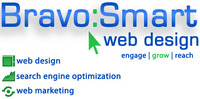A great web designer: BravoSmart Web Design, Midland, MI logo