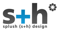 A great web designer: splush (s+h) design, Seattle, WA logo