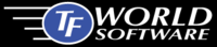 A great web designer: TFWorld Software, Lubbock, TX logo