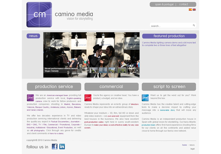 A great web design by Grupo Adlibweb, Alicante, Spain: