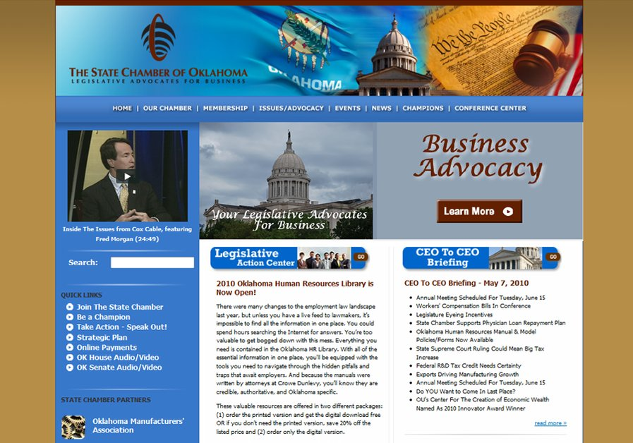 A great web design by The Worx, Oklahoma City, OK:
