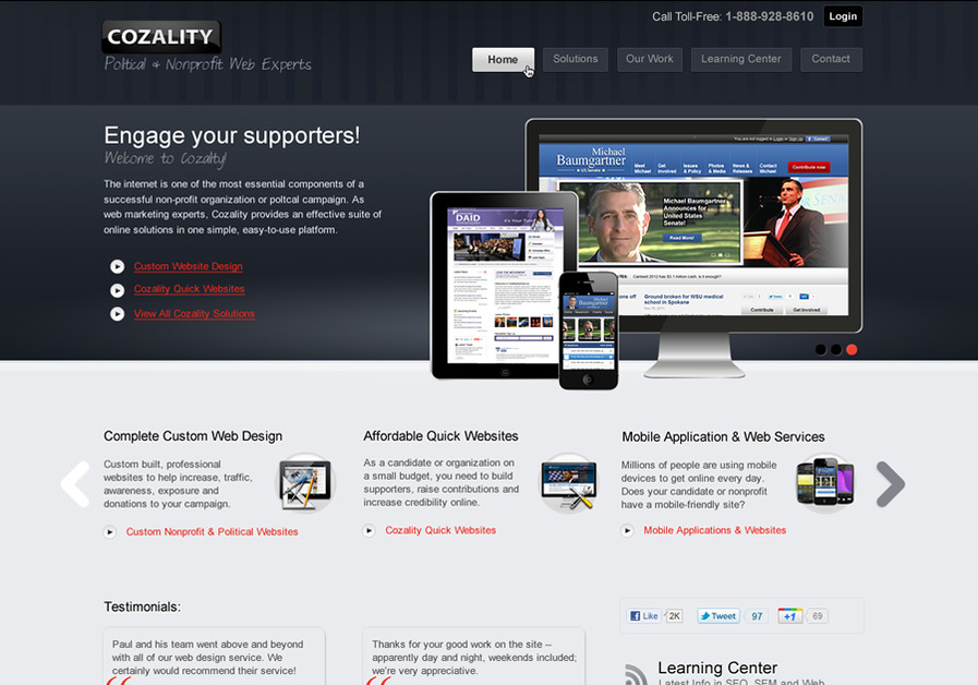 A great web design by Cozality, Toronto, Canada: