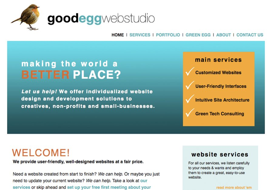 A great web design by Good Egg Web Studio, New Orleans, LA: