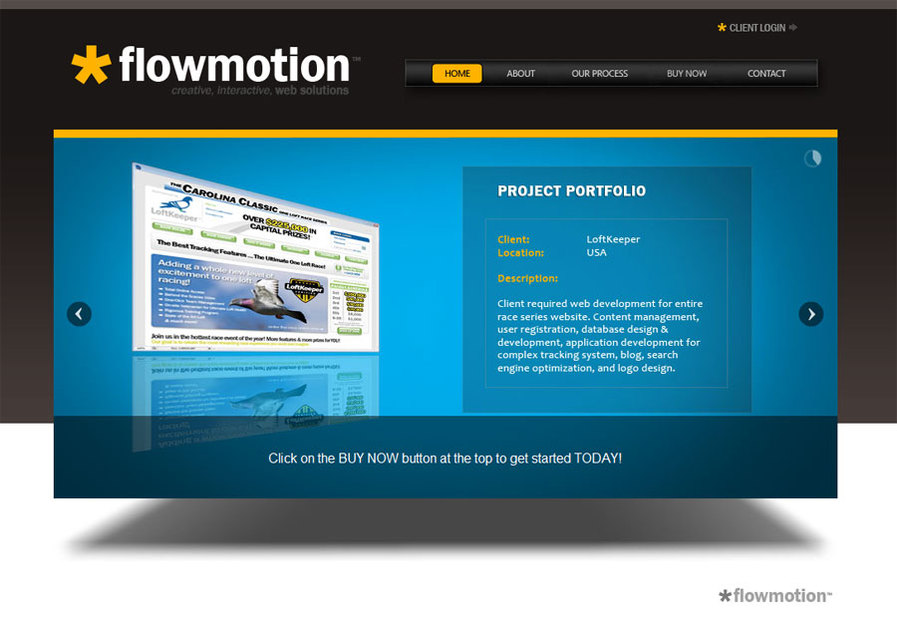 A great web design by Flowmotion, Charlotte, NC: