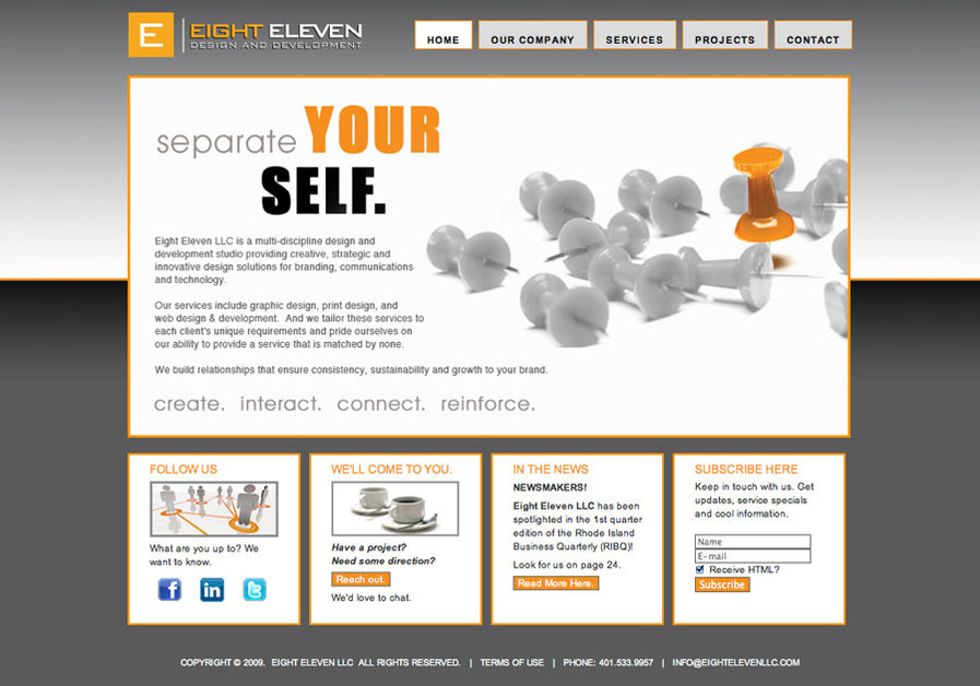 A great web design by EIGHT ELEVEN LLC, Providence, RI: