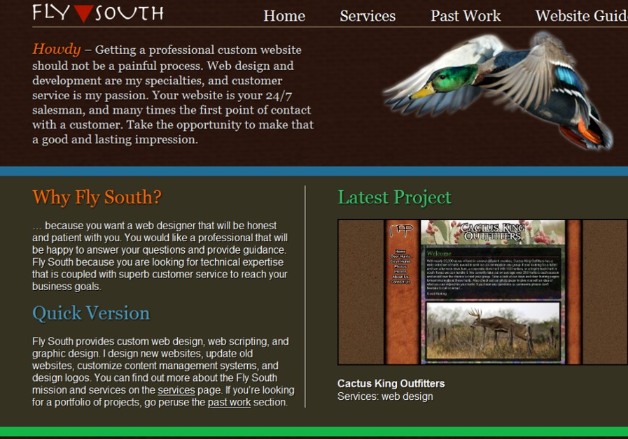 A great web design by Fly South, Dallas, TX: