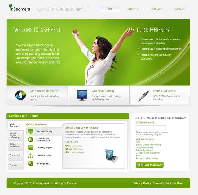 A great web design by inSegment, Inc., Boston, MA: