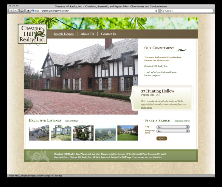 A great web design by Stream 9, Cleveland, OH: Website, Other, Real Estate , PHP