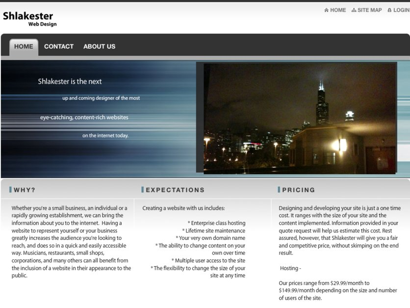 A great web design by Shlakester Web Design, Chicago, IL: