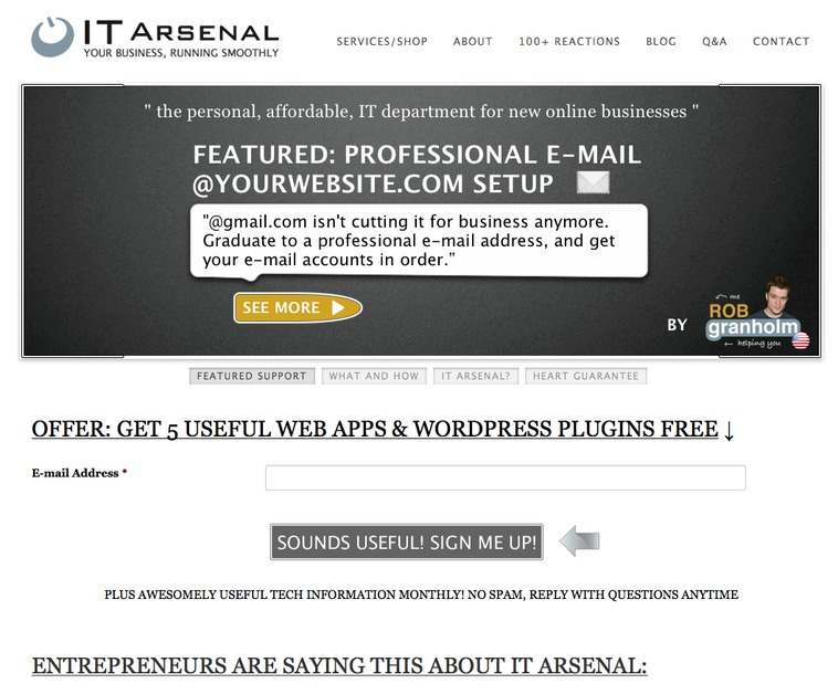 A great web design by IT Arsenal, Philadelphia, PA:
