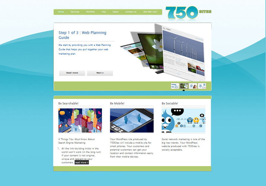 A great web design by 750Sites, Panama City, FL: