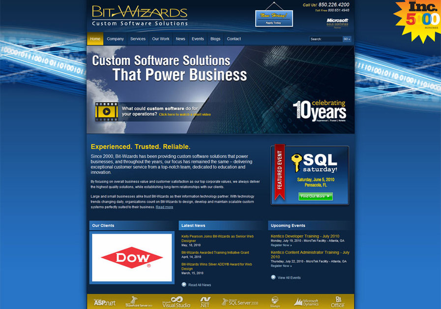 A great web design by Bit-Wizards, Fort Walton Beach, FL: