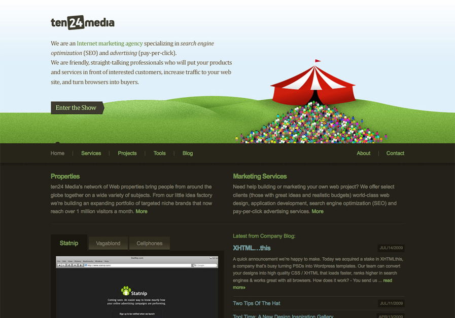 A great web design by ten24 Media, Edmonton, Canada: