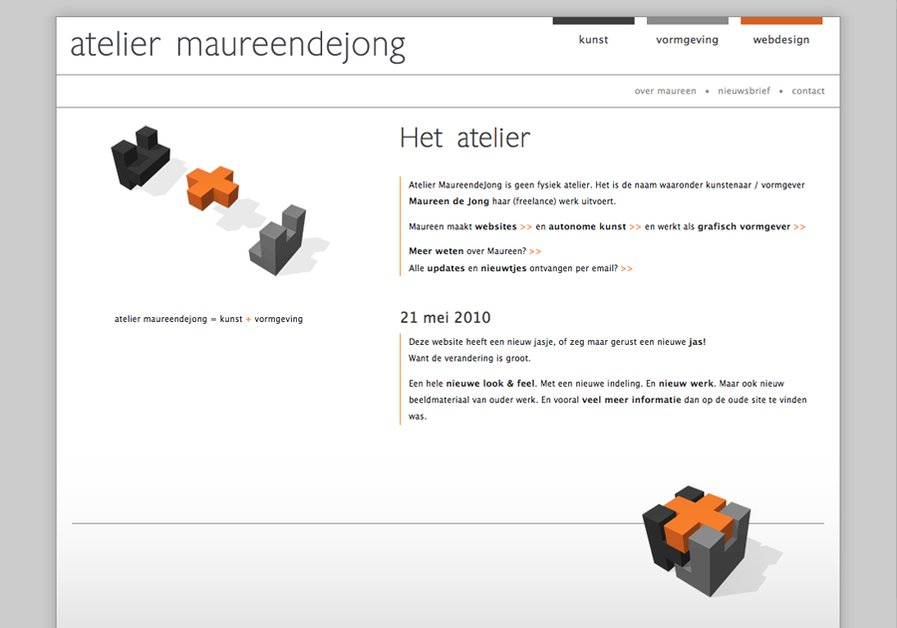 A great web design by Atelier MaureendeJong, Schiedam, Netherlands: