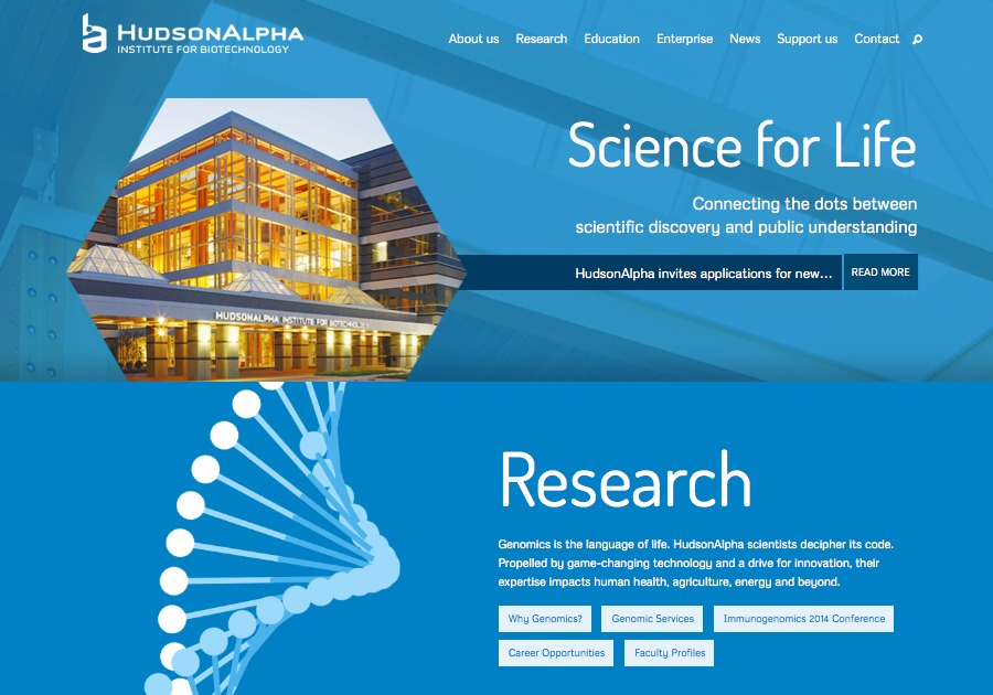 A great web design by SPINEN, Inc.: Responsive Website, Biotechnology