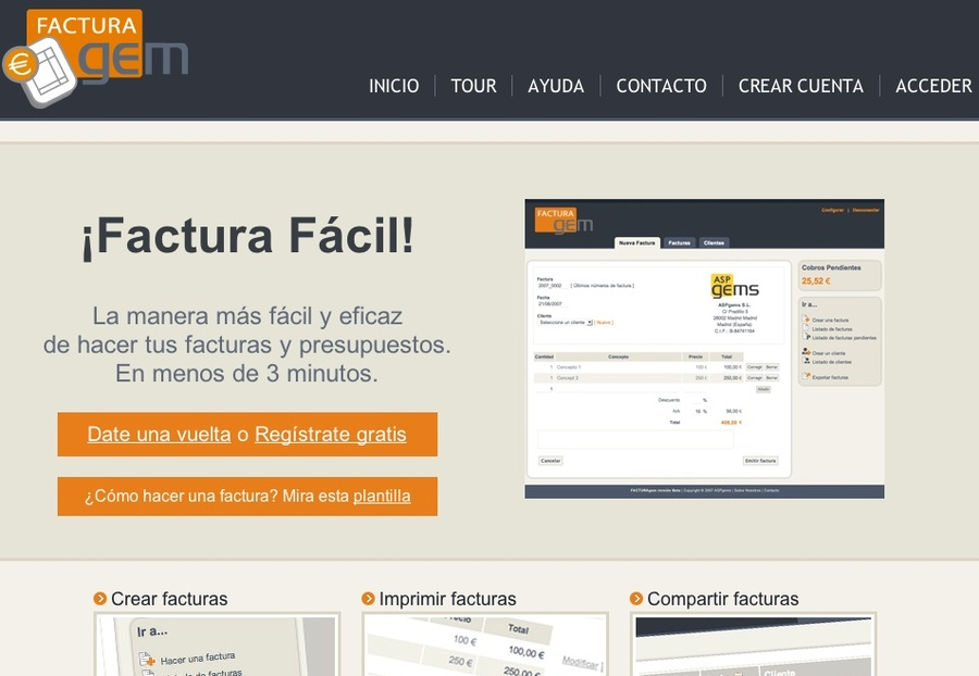 A great web design by ASPgems, Madrid, Spain: