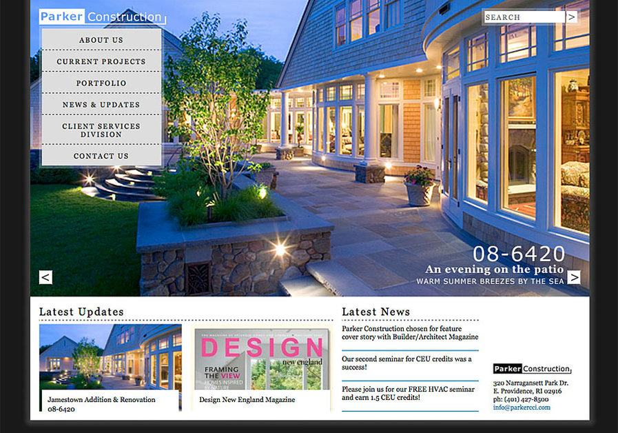 A great web design by Highchair designhaus, Boston, MA: