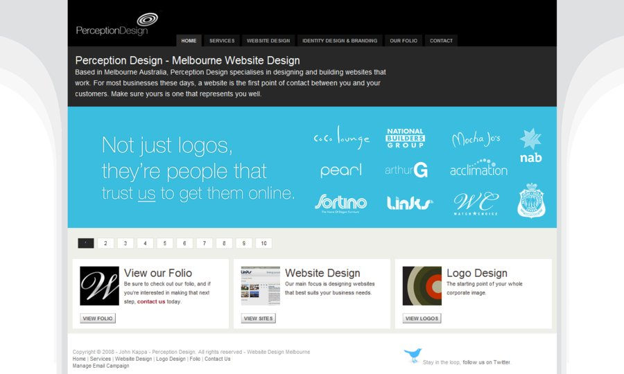 A great web design by Perception Design, Melbourne, Australia: